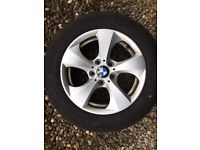 BMW alloys and tyres set of four for £75.00