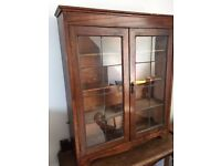 Vintage Lead Glass wall display Cabernet / Book case