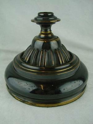 ANTIQUE LACQUERED 'BRONZED' EFFECT OIL LAMP BASE 22mm FONT FITTING