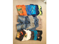 Bundle of boys trousers, jeans, t shits ,good cond 6-7 y