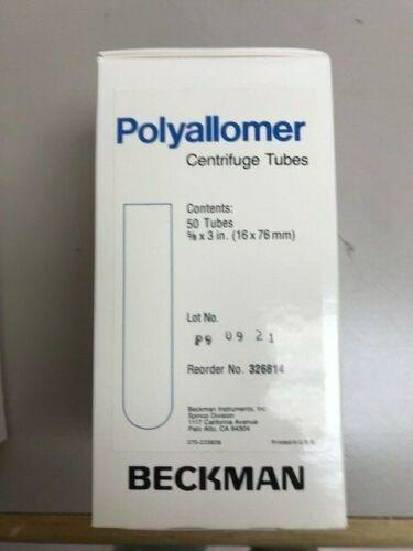 Beckman Coulter 326814 Polyallomer Centrifuge Tubes, 16 x 76 mm/50 tubes