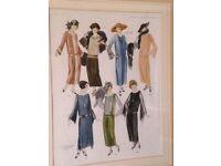 Framed 1920s fashion print
