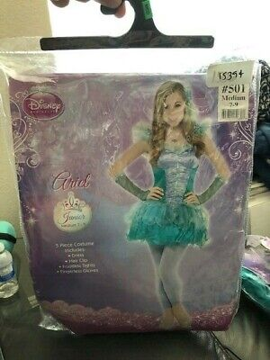 Ariel Disney Princesses Junior 5 Piece Costume Size Medium 7-9 New!!! - Disney Junior Costumes