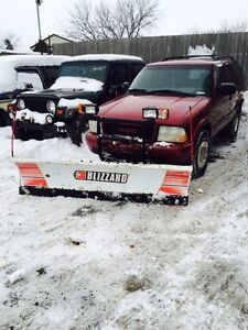 2000 GMC JIMMY WITH BLIZZARD PLOW $3600 AS IS