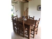 5ft Dining Table, Dresser and 6 chairs (Top of dresser also available)