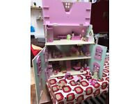 Wooden dolls house for sale