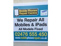 SAME DAY MOBILE PHONE REPAIR IPHONE & SAMSUNG & SONY COVENTRY SCREEN REPAIR CALL NOW 02476 555450
