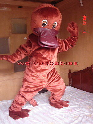 Professional New Style Platypus Mascot Costume Fancy Dress Adult Size  - Platypus Costume