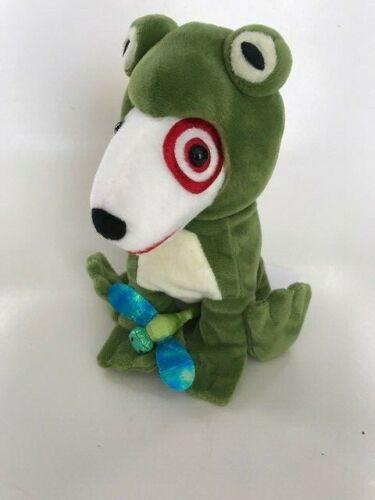 Target Dog Plush Frog Dog Stuffed Toy Bullseye - Very Rare