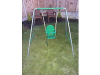 BABY TO GROWN UP SWING - 2-IN-1 BABY SEAT & EXTRA SEAT & EXTRA POLES TO GROW WITH CHILD - VGC - £25