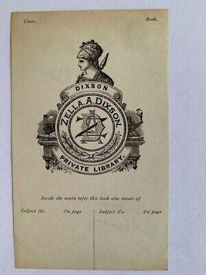 Ex-libris USA, DIXON Zella A. Ohio, 93 x 68 mm