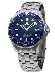 NEW Omega Seamaster James Bond Edition Co-Axial Automatic Blue Watch 2220.80