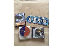 Flight Simulator PC software 2004 1,2,3 and 4 + playstation game Command and Conquer