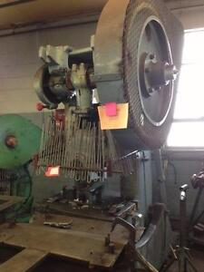 50 ton Brown and Boggs OBI punch press, Mod. 16L, Str.3, Sh 9-1/2, ba.21 x 31-1/2, mech. clutch,