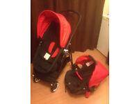 Kiddicare Mooch 3 in 1 Travel System (infant car seat, pramette mode, pushchair)
