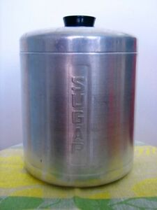 Vintage Spun Aluminum Sugar Canister by STEELMASTERS, Italy Kitchener / Waterloo Kitchener Area image 1