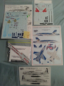 MODEL CANADIAN MILITARY AIRPLANE AIRCRAFT DECALS