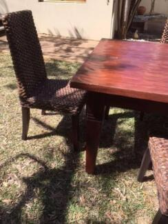 Big Balanise style large table and chairs