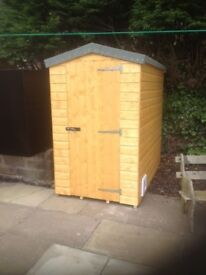 6ft x 4ft Garden Shed WITH CAT FLAP