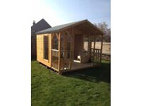 10ft x 9ft Summer House with 3ft Veranda + Spindles