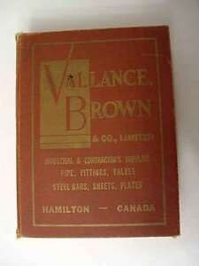 Old Catalogue:  Vallance Brown Industrial Supply Catalogue, 57