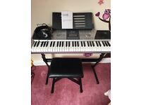 Electric organ, stool, stand and earphones