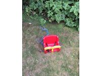 Red Kettler baby swing seat