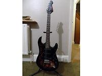 Jaxville ST Demon Electric guitar. Strat copy.