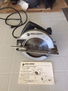 Black and Decker 7  1/4 inch circular saw.