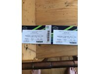 2 x seated Arcade Fire tickets for Wembley, Weds 11 April. 65 quid each cost price