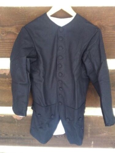 18th century kids civilian frock coat, 100% wool- navy blue- size 36