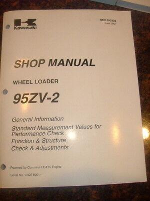 Kawasaki 95zv-2 Wheel Loader Shop Service Manual