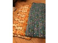 4x SINGLE SLEEPING BAGS, SQUARE ENDED QUILTED