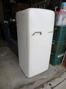 Vintage round-top fridge