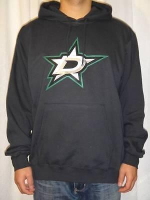 NWT Majestic Dallas Stars NHL Men's Felt Tek Patch Hooded Sweatshirt - Black Dallas Stars Mens Sweatshirts