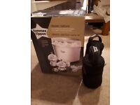 Tommee Tippee Electric Steriliser AND two FREE Bottle Warmers