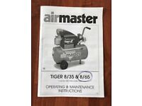Air Compressor - Tiger Air Master 8/65 50 litre, 1.5hp.