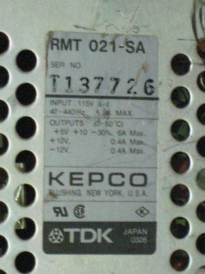 Tdk Kepco Triple Output Dc Switching Power Supply Rmt