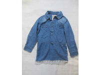 La Redoute Denim Dress with Lace bottom. Size 2 to 3 Year old.