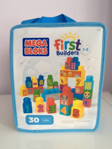 Mega Bloks First Builders Bag 123 Build n' Learn Set (Brand New)