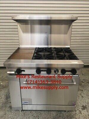 New 36 Lp Propane Range 4 Burner 12 Griddle Oven Base Stratus Sr-4g12 Lp 7268