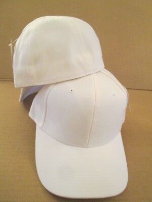 3431420727a03 WHITE BASEBALL CAP - 6 PANEL FITTED - SIZE 7 - BRAND NEW BY CITY HUNTER