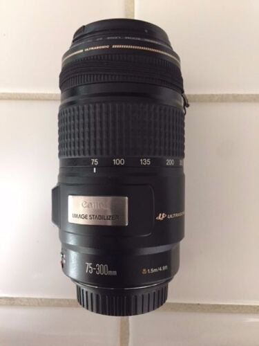 CANON EF ULTRASONIC 75-300mm IS 4-5.6 IS IMAGE STABILIZER LENS EXCELLENT