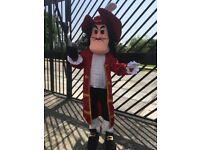 UK SELLER look alike brand new adult Hook pirate delux Mascot Costume fancy dress Brand New