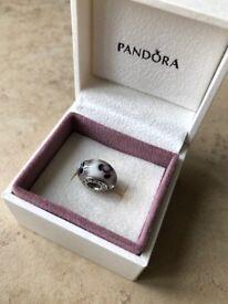 Genuine Pandora Authentic Pandora Murano Glass Flowers for You Grey Bead Charm
