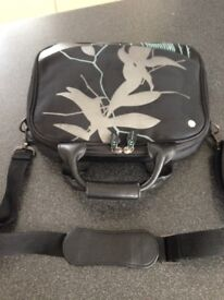 Very smart Radley Laptop/Tablet Bag/Briefcase in mainly black neoprene, detachable shoulder strap