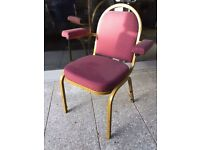 Stackable banquet chairs with arms