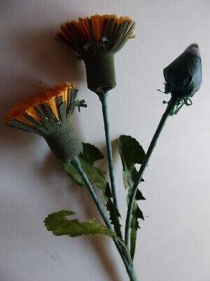 1 Bund Löwenzahn, gelb mit grünen Blättern Seidenblumen natürlich basteln  ()