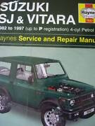 SUZUKI SJ & VITARA WORKSHOP SERVICE MANUAL 1982 TO 1997 Dianella Stirling Area Preview