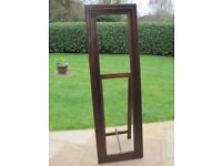 """""""Cheval"""" free standing solid wood mirror, needs new mirror"""